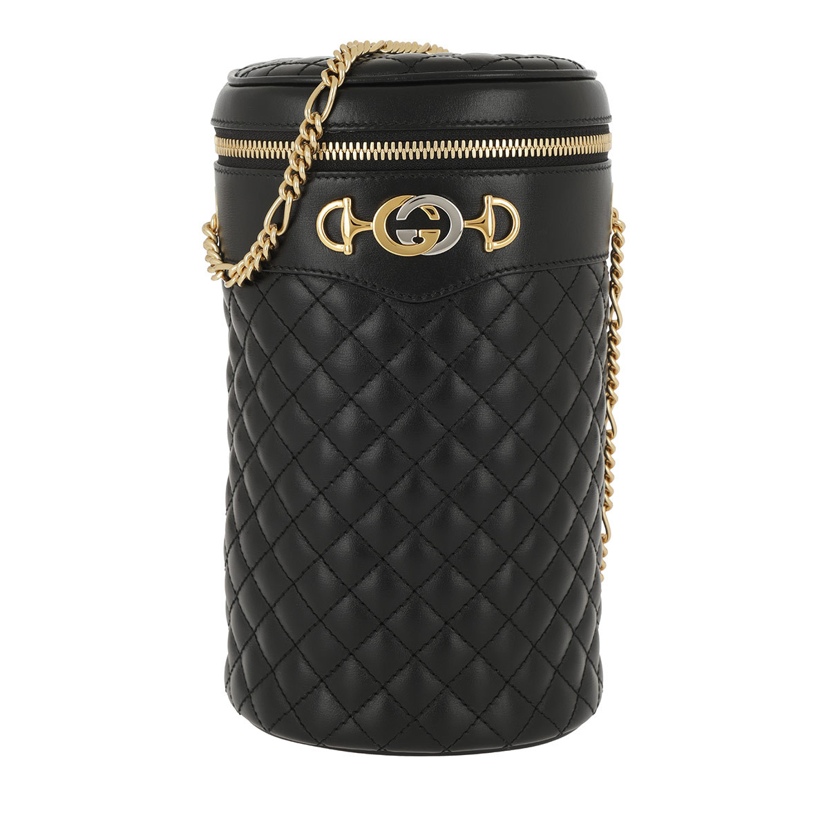 Gucci Beuteltasche - Belt Bag Quilted Leather Black/Black - in schwarz - für Damen
