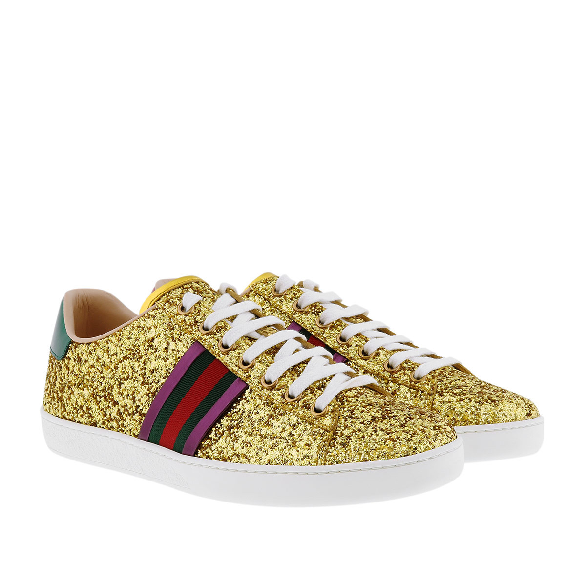 Gucci Sneakers - Crystal Sneaker Gold - in gold - für Damen