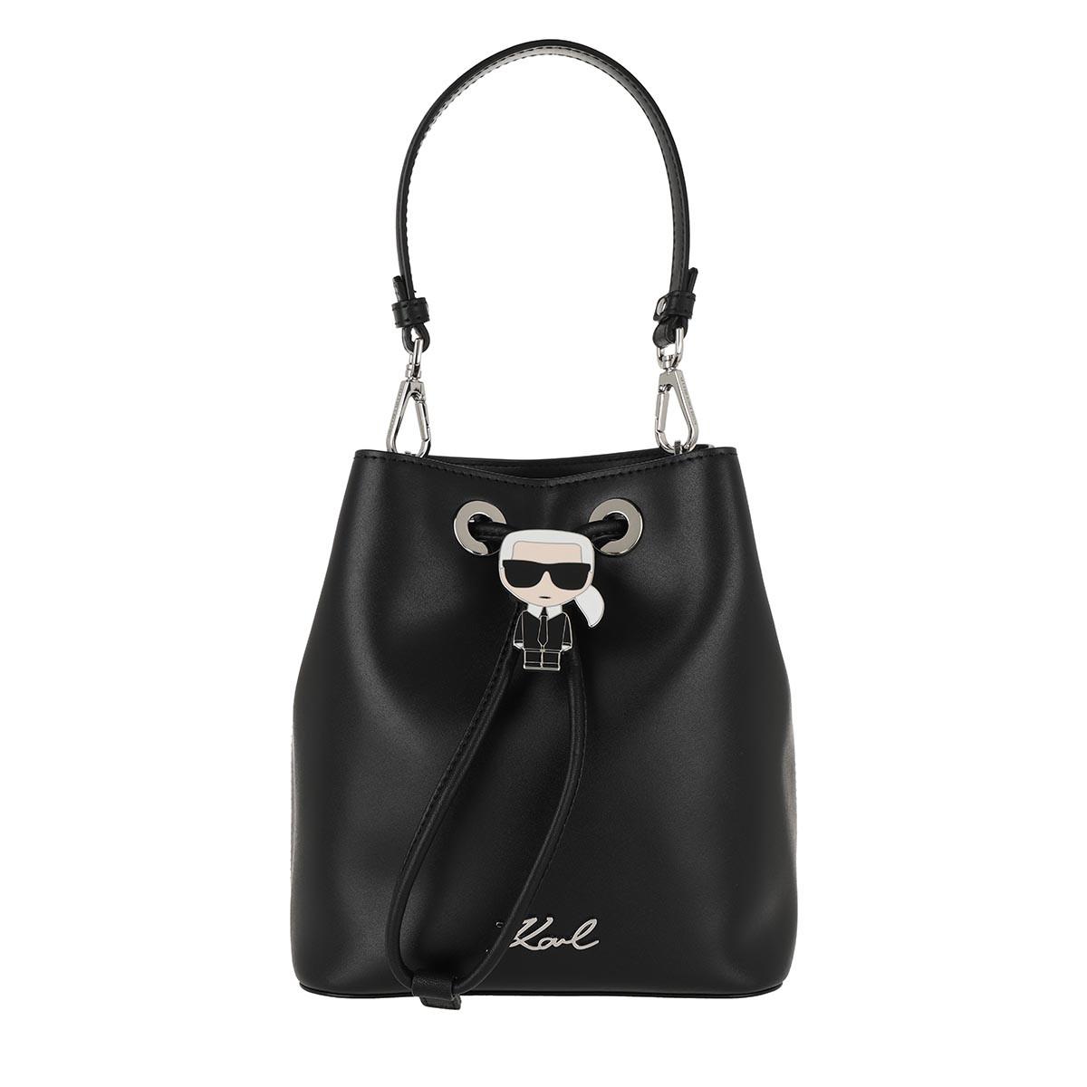 Karl Lagerfeld Beuteltasche - Ikonik Bucket Bag Black - in schwarz - für Damen