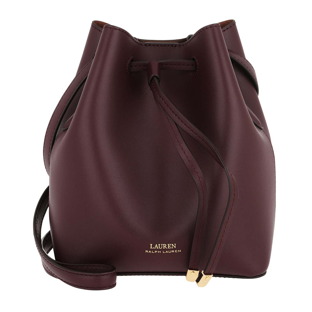 Lauren Ralph Lauren Beuteltasche - Debby Drawstring Mini Bordeaux Field Brown - in lila - für Damen