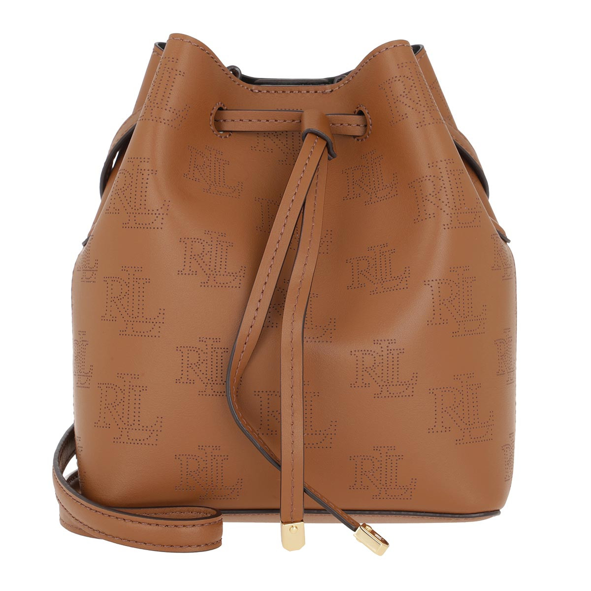 Lauren Ralph Lauren Beuteltasche - Debby Drawstring Mini Field Brown Black - in braun - für Damen