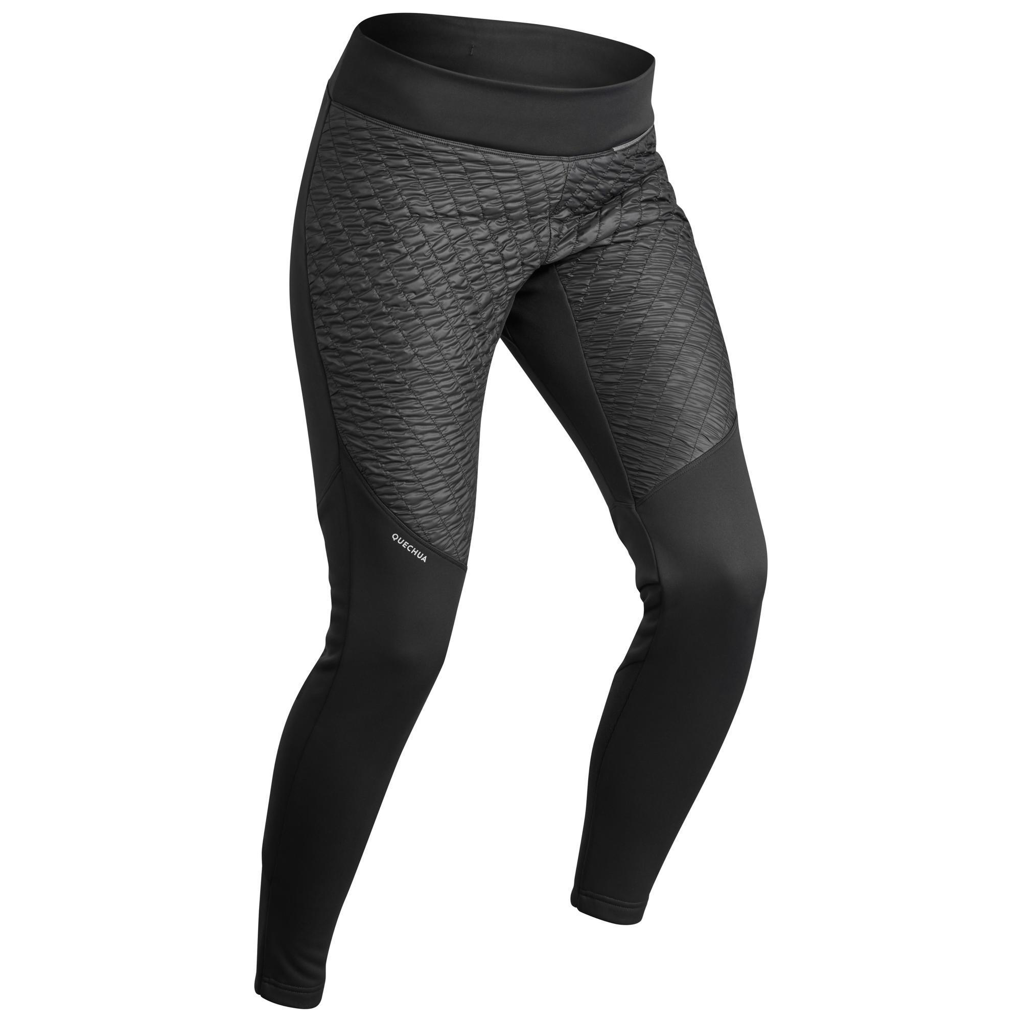 Leggings Winterwandern SH500 Warm Damen schwarz