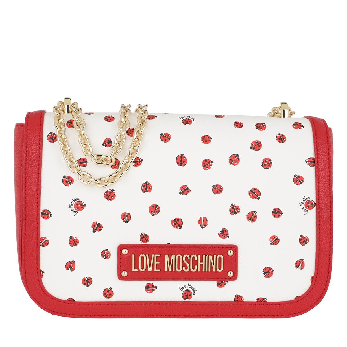 Love Moschino Umhängetasche - Printed Bag Ros - in rot - für Damen