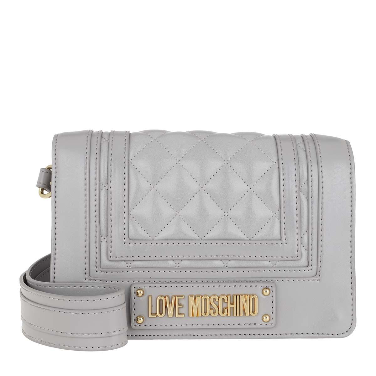 Love Moschino Umhängetasche - Quilted Nappa Crossbody Bag Grigio - in grau - für Damen
