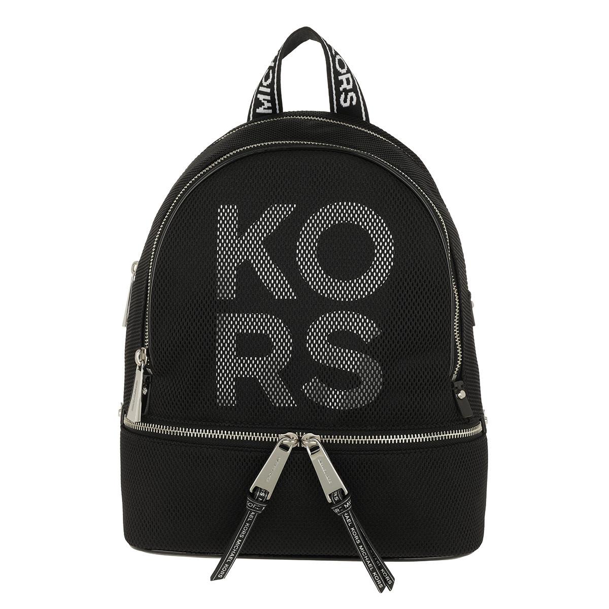 Michael Kors Rucksack - Rhea Zip Medium Backpack Black/Optic White - in schwarz - für Damen