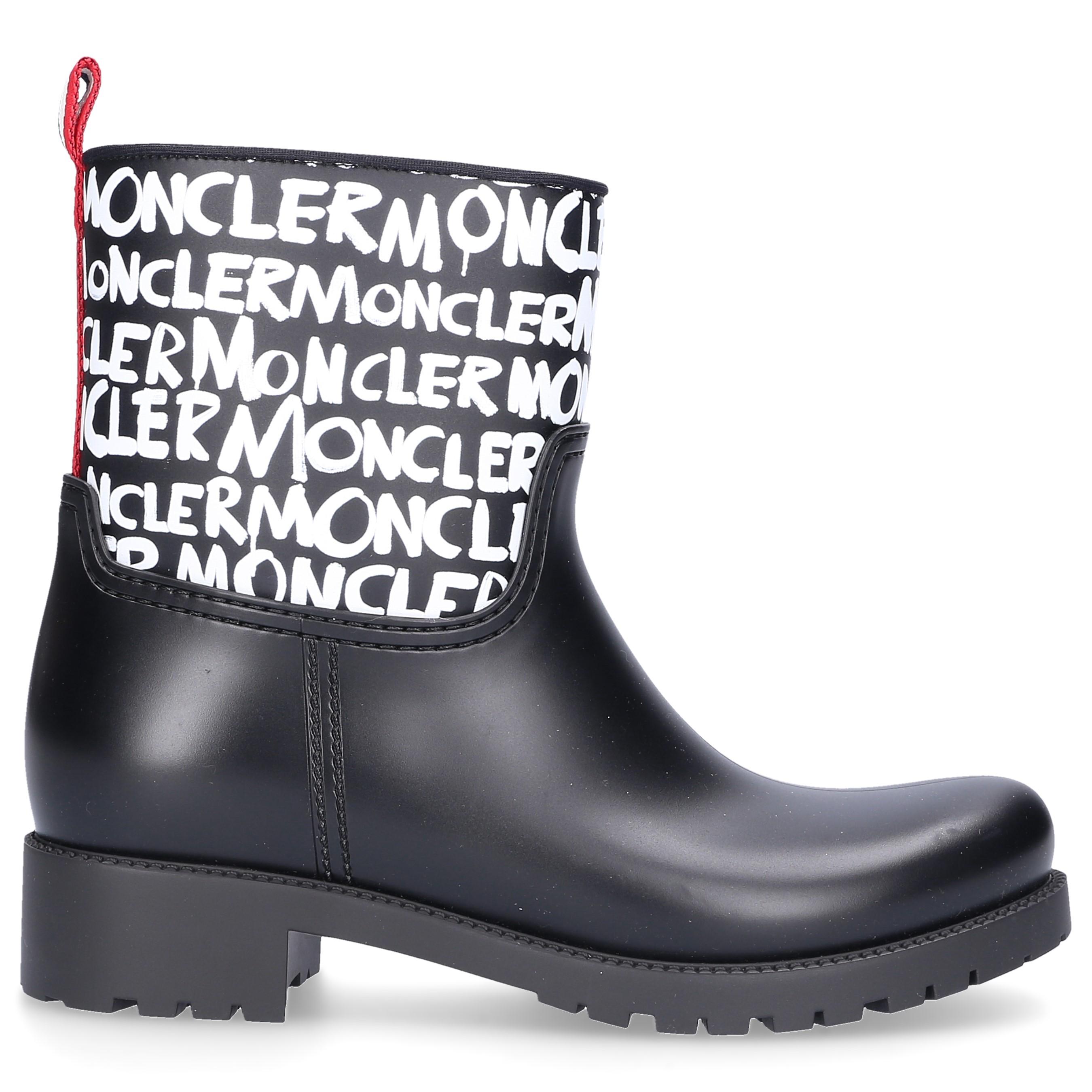 Moncler Gummistiefel GINETTE Gummi Logo Print schwarz