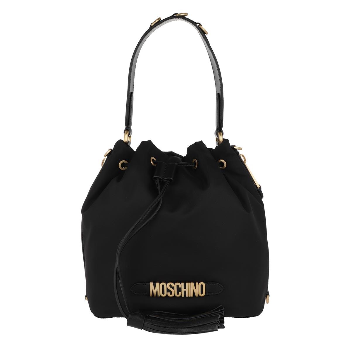 Moschino Beuteltasche - Drawstring Bag Fantasia Nero - in schwarz - für Damen