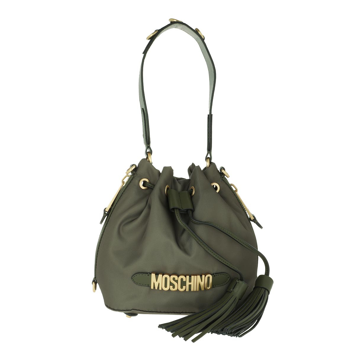 Moschino Beuteltasche - Logo Bucket Bag Green - in grün - für Damen