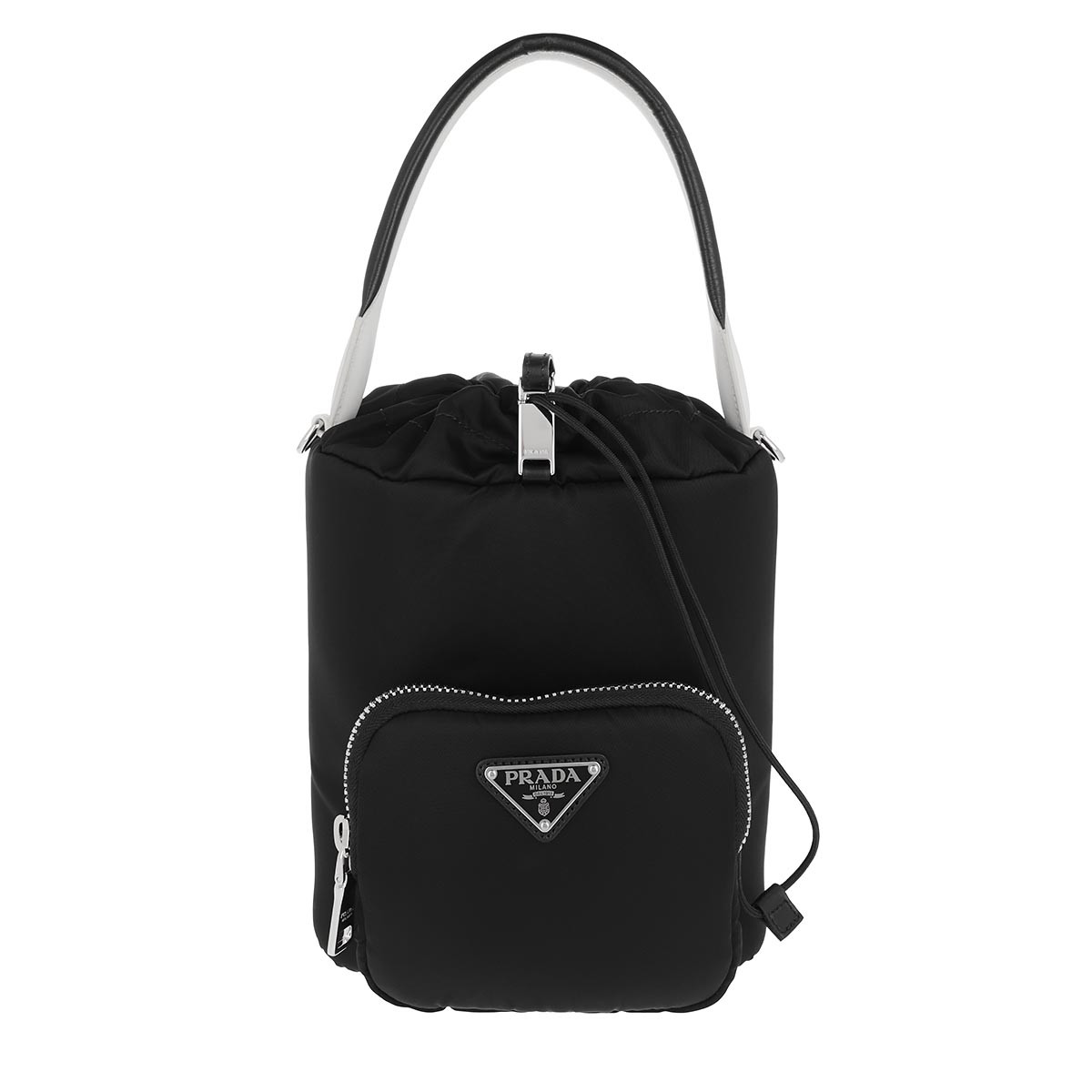 Prada Beuteltasche - Bucket Bag Nylon Black/Red - in schwarz - für Damen