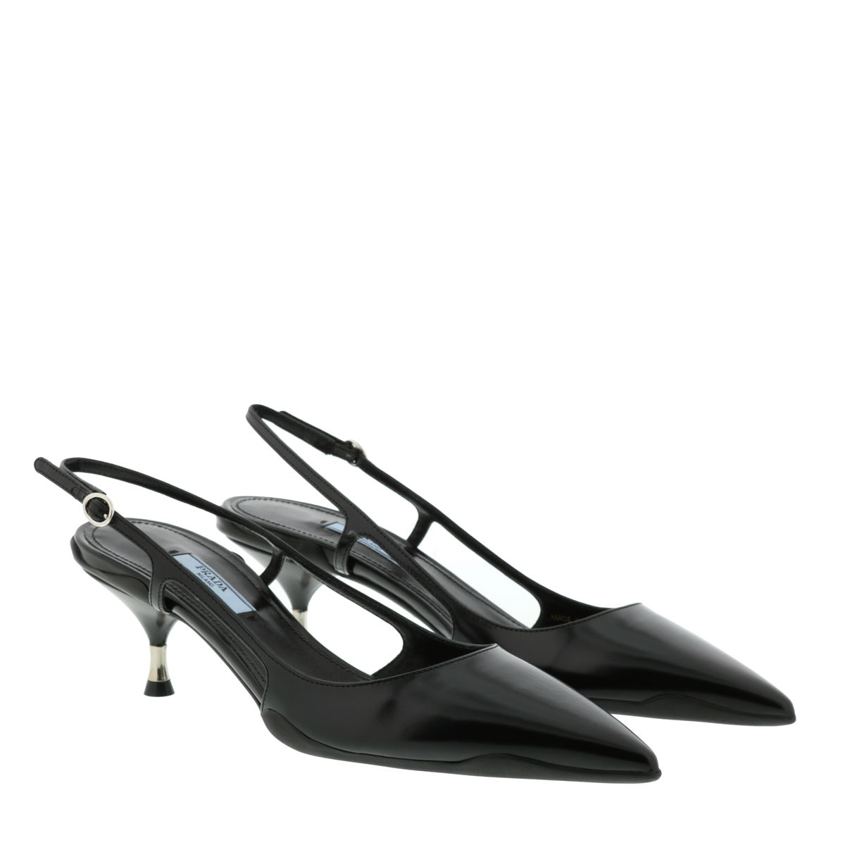 Prada Pumps - Slingback Ballerinas Leather Black - in schwarz - für Damen
