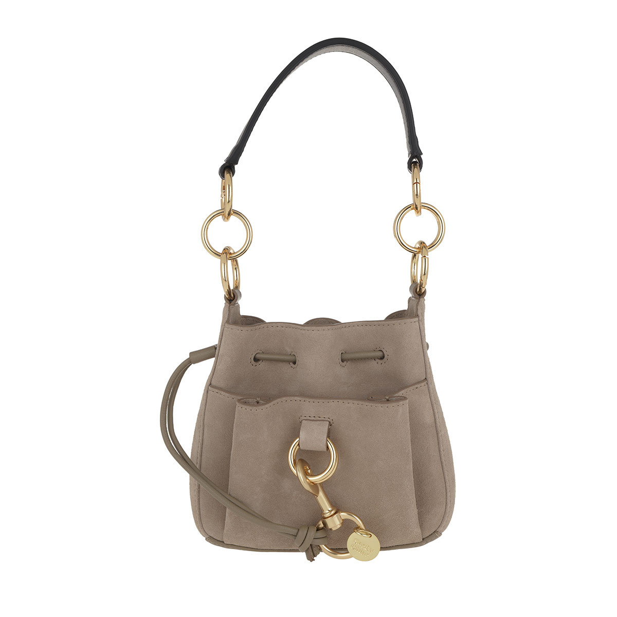 See By Chloé Beuteltasche - Tony Small Shoulder Bag Motty Grey - in grau - für Damen