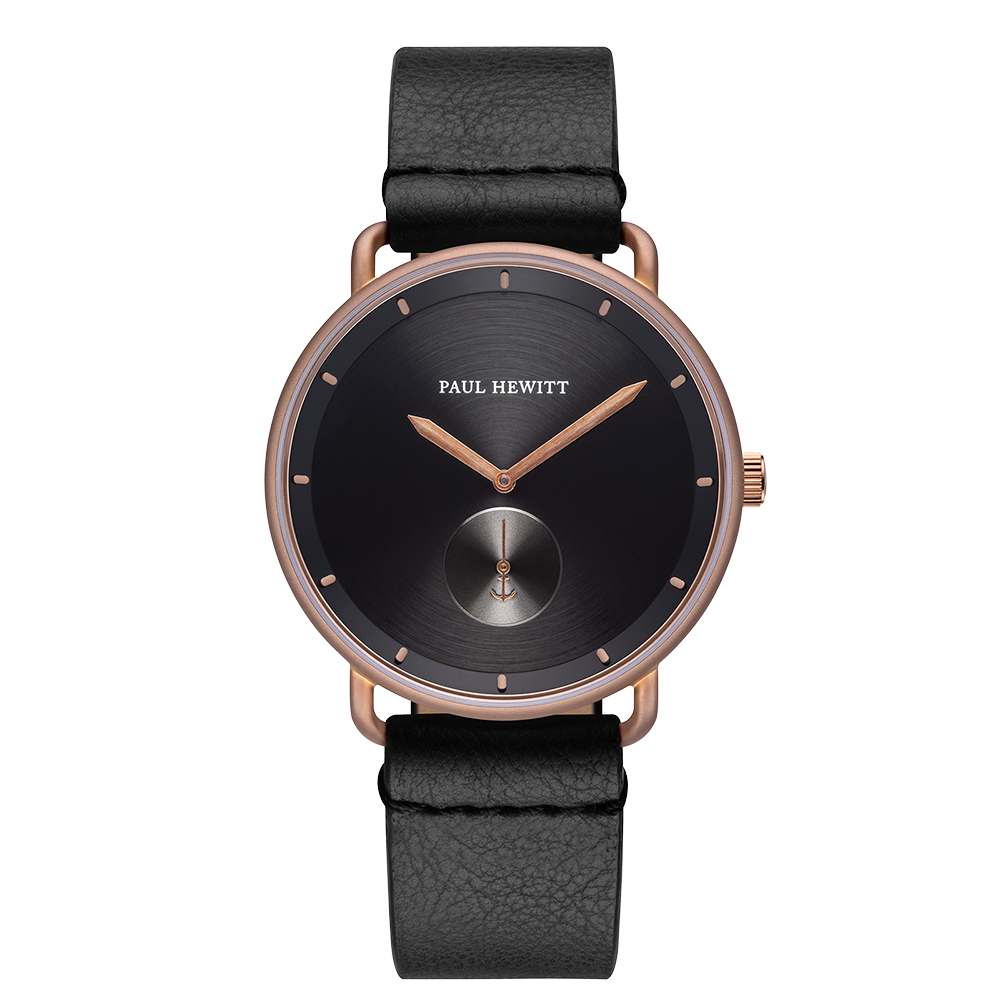 Uhr Breakwater Black Sunray Bronze Leder Pure Black