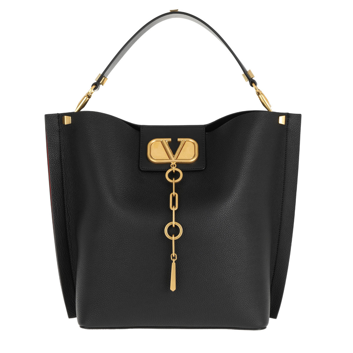 Valentino Beuteltasche - Valentino Bucket Bag Leather Black - in schwarz - für Damen