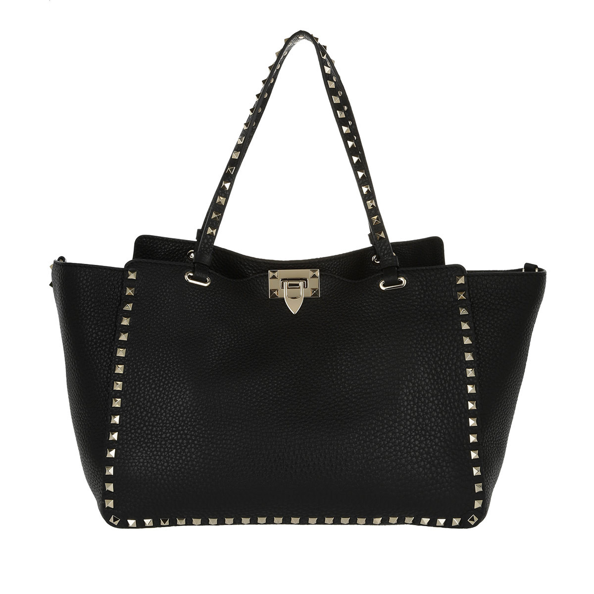 Valentino Shopper - Rockstud Shopping Bag Nero - in schwarz - für Damen