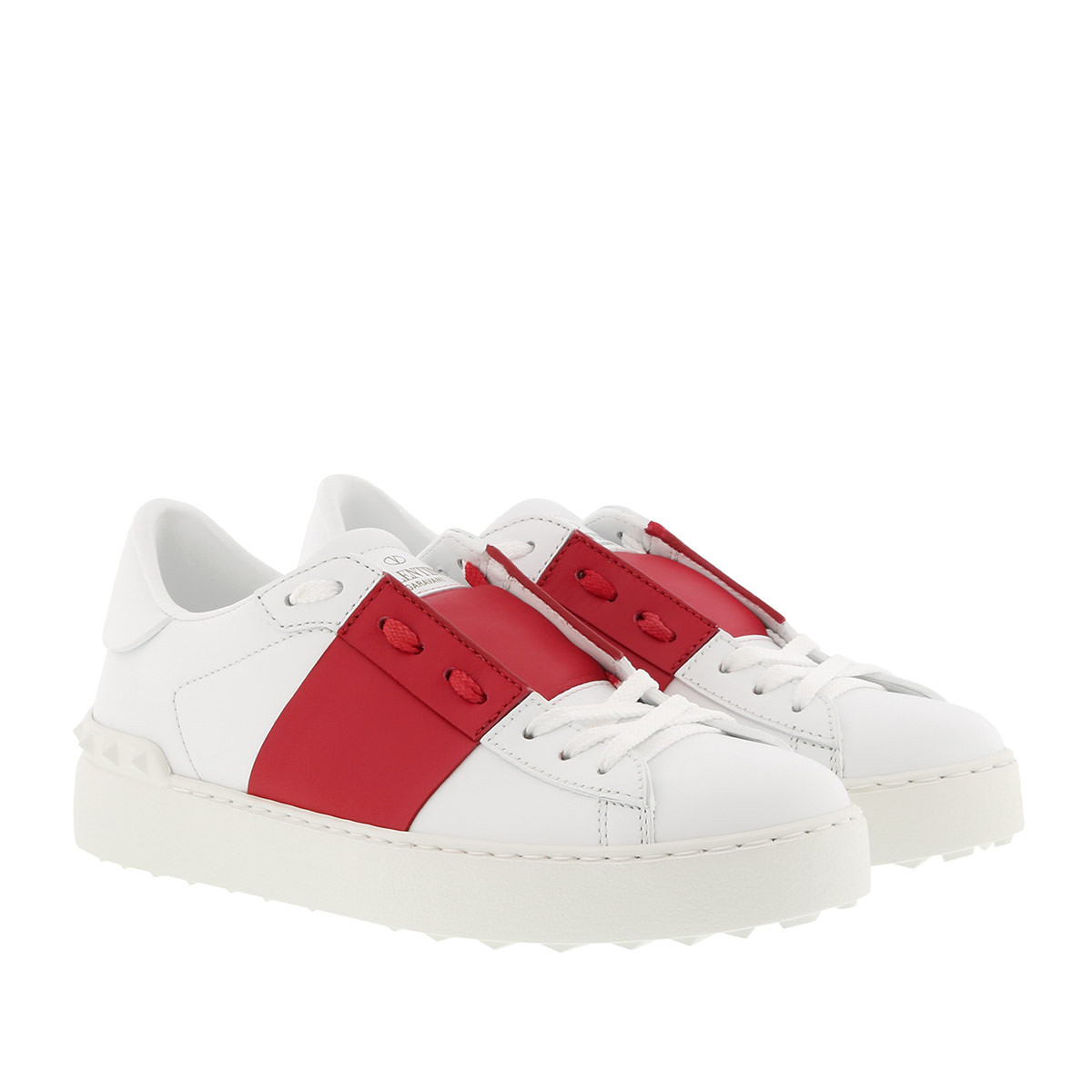 Valentino Sneakers - Open Sneaker White Melon White/Red - in weiß - für Damen