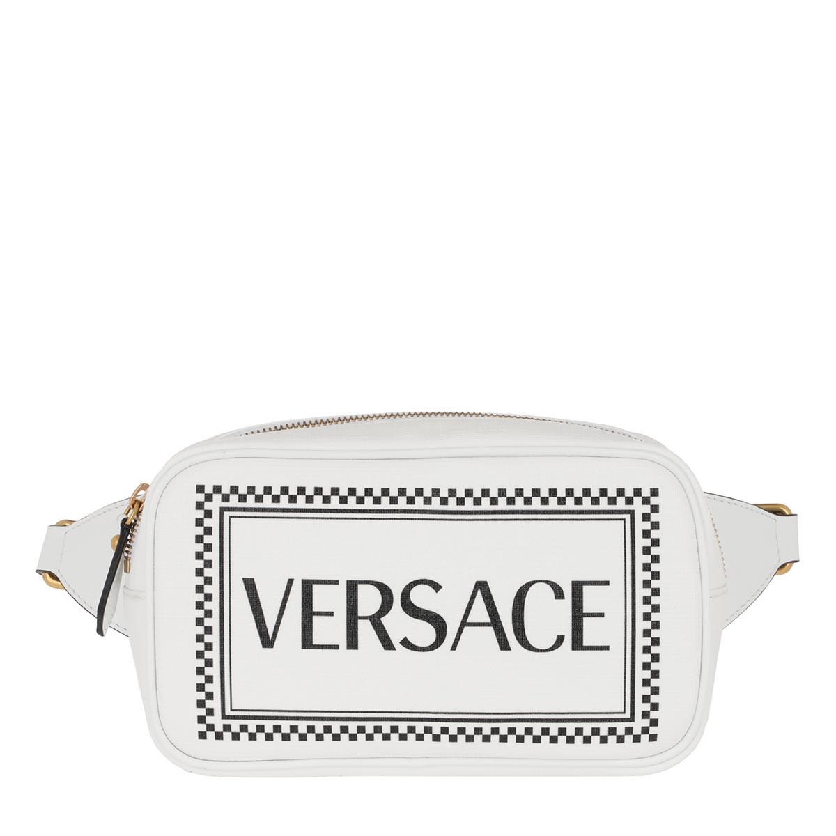 Versace Gürteltasche - Belt Bag White Black Tribute Gold - in weiß - für Damen