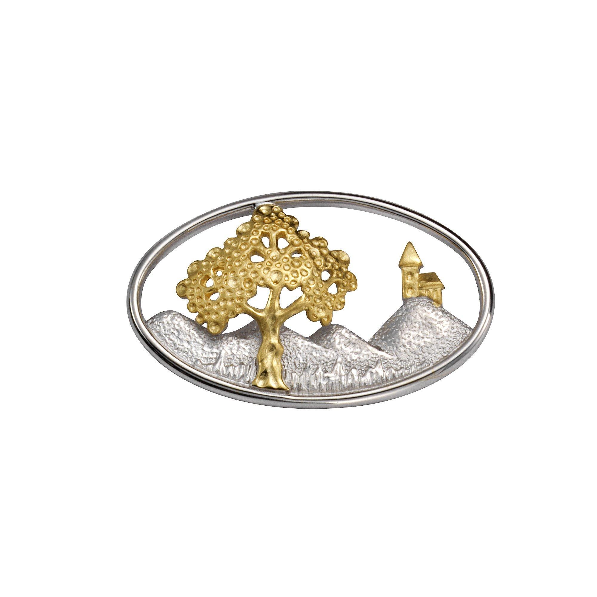 Vivance Brosche 925/- Sterling Silber vergoldet