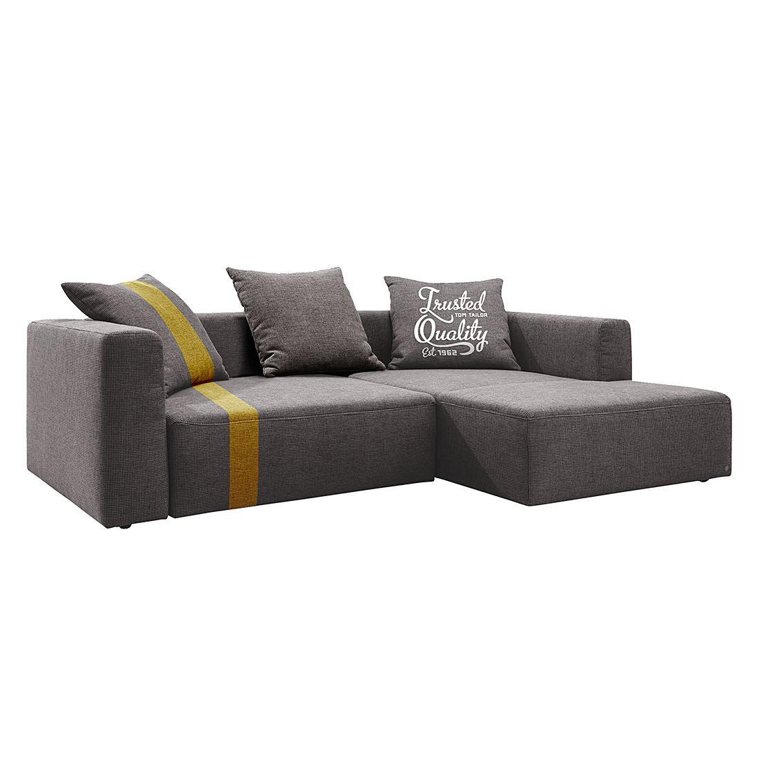 home24 Ecksofa Heaven Stripe Webstoff Longchair