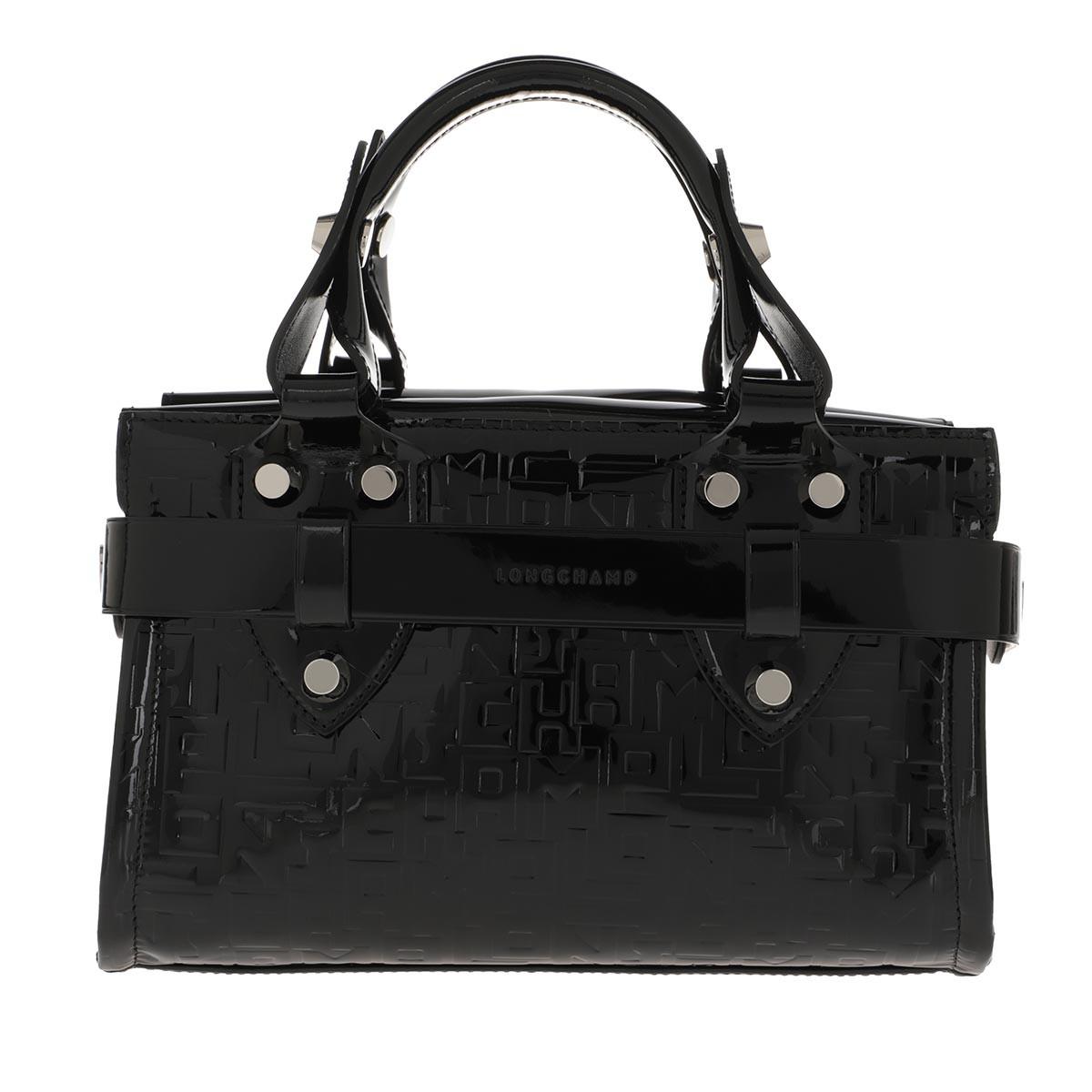 Longchamp Tote - La Voyageuse LGP Verni Small Tote Bag Black - in schwarz - für Damen