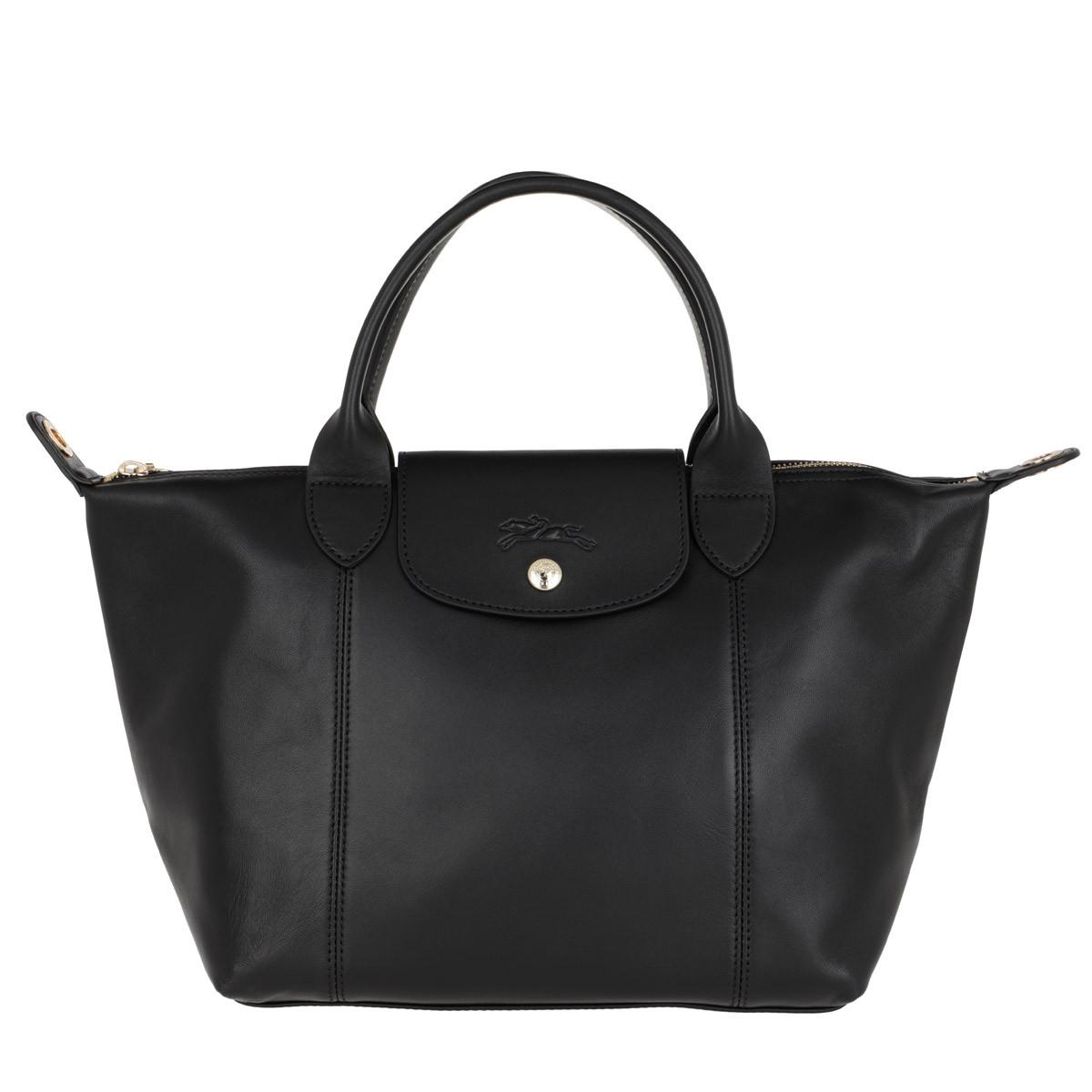 Longchamp Tote - Le Pliage Cuir Webbing Black - in schwarz - für Damen