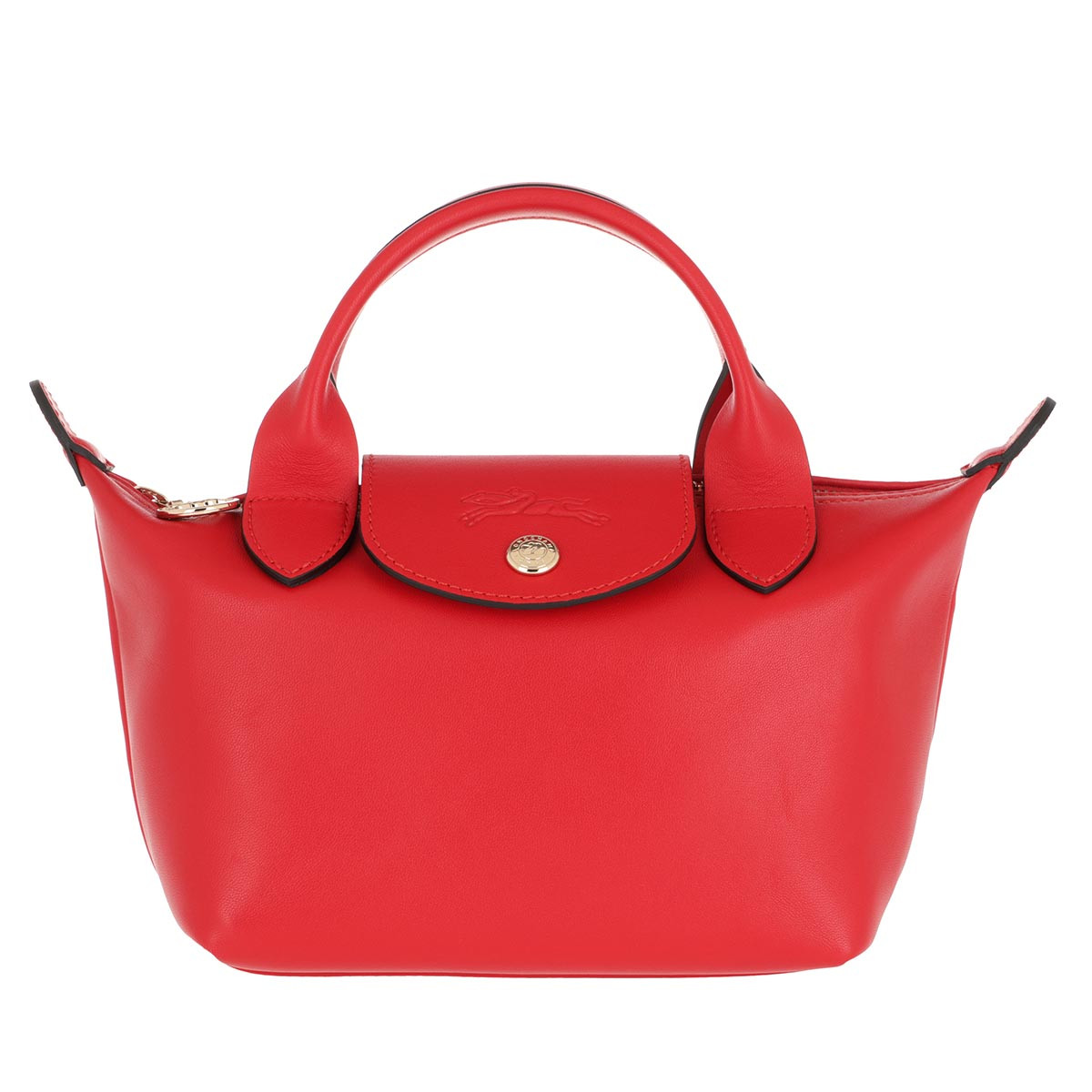 Longchamp Tote - Le Pliage Cuir Webbing Vermilion - in rot - für Damen
