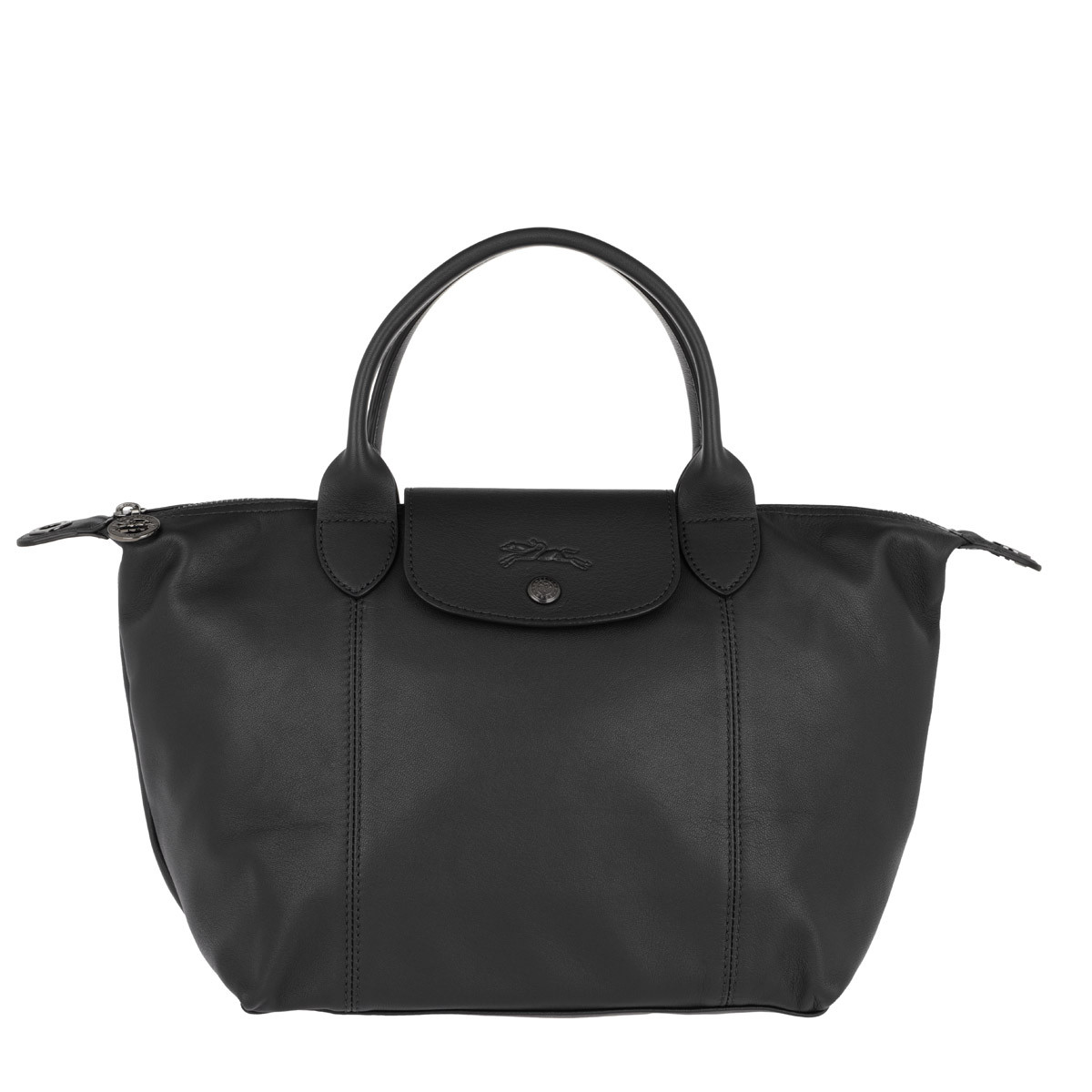 Longchamp Tote - Le Pliage Leather Black - in schwarz - für Damen