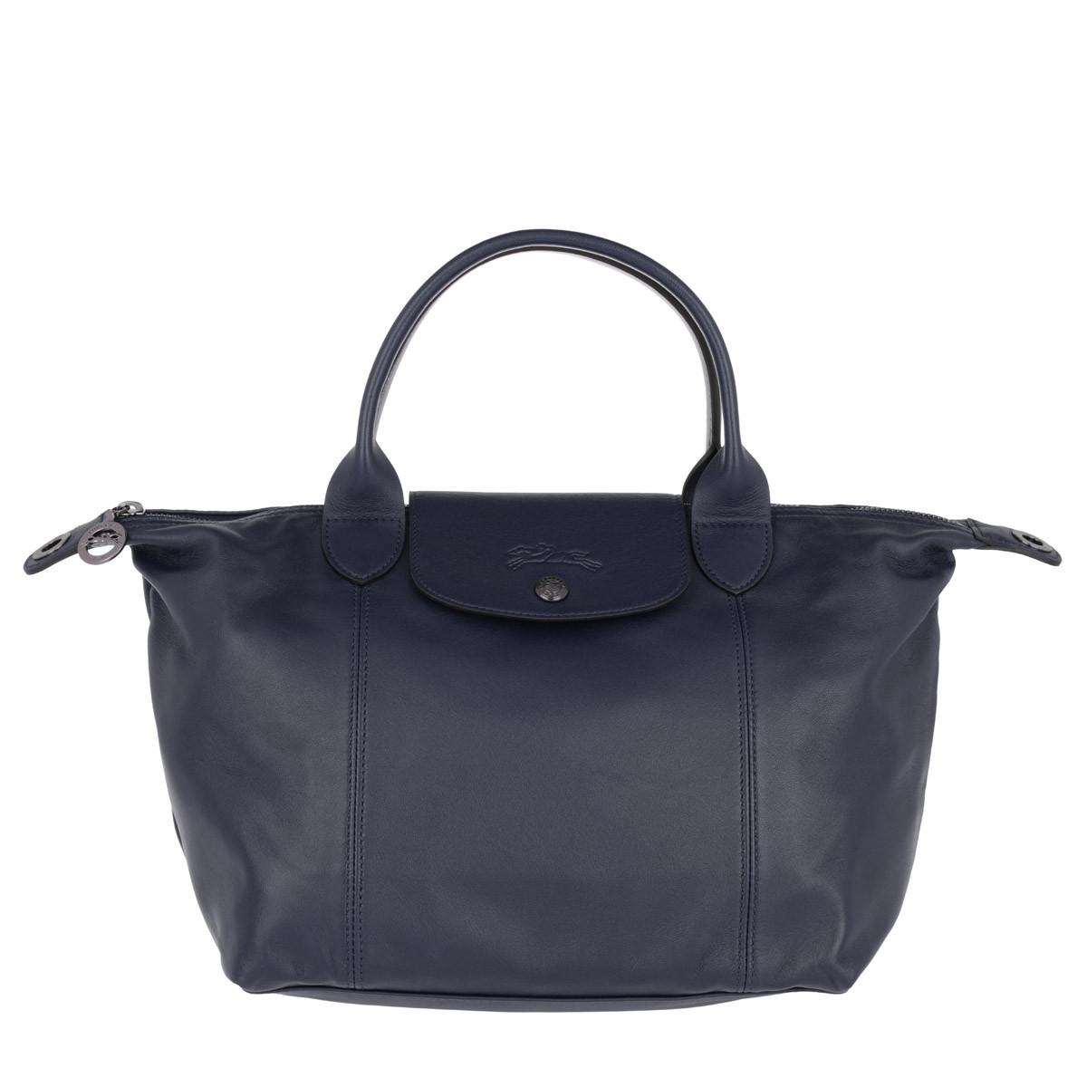 Longchamp Tote - Le Pliage M Leather Navy - in marine - für Damen
