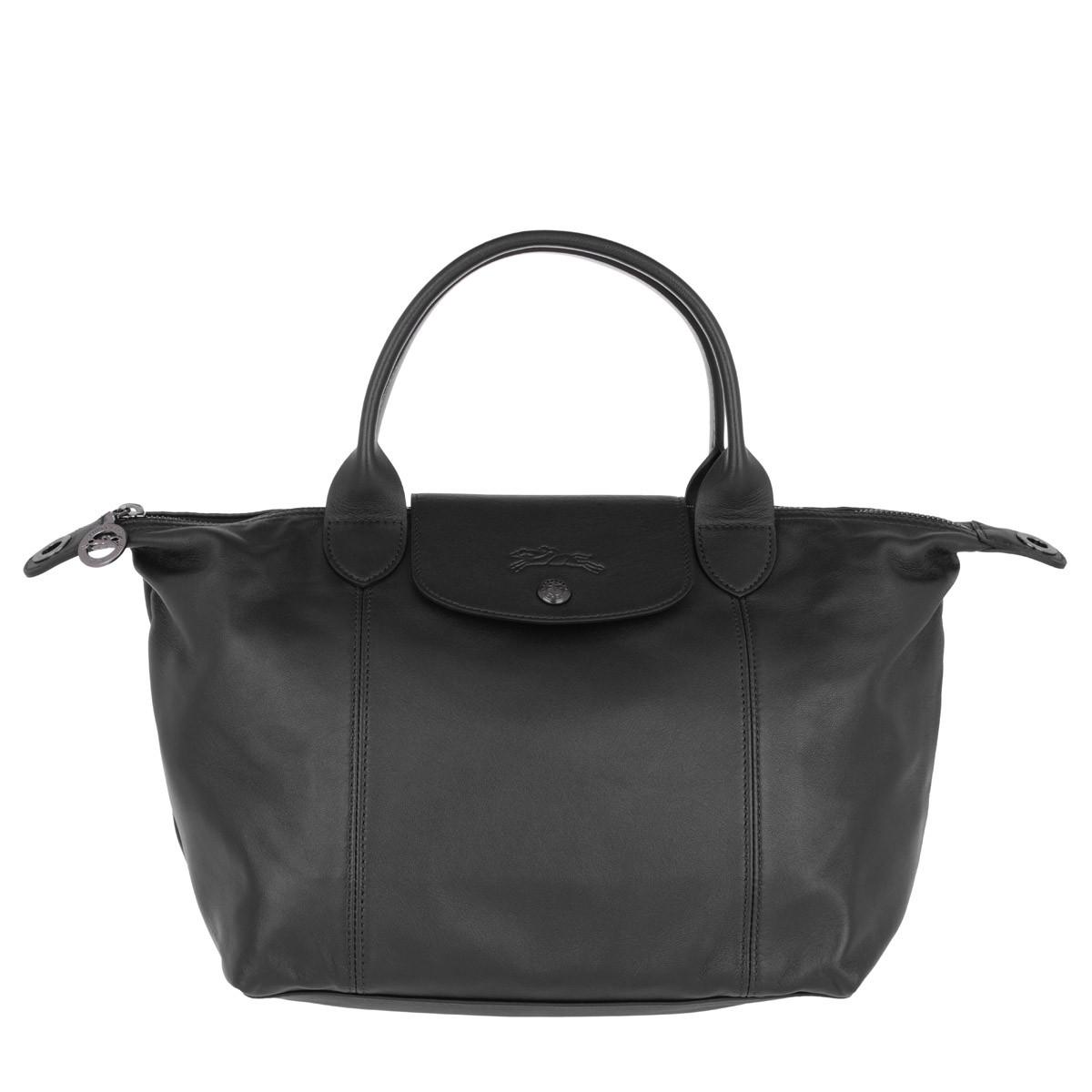 Longchamp Tote - Le Pliage S Leather Black - in schwarz - für Damen