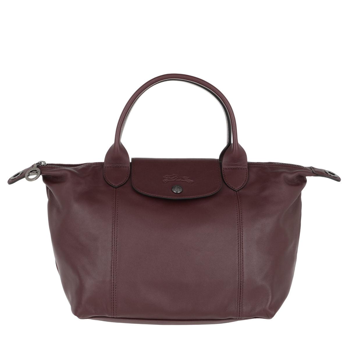 Longchamp Tote - Le Pliage S Leather Brandy - in rot - für Damen