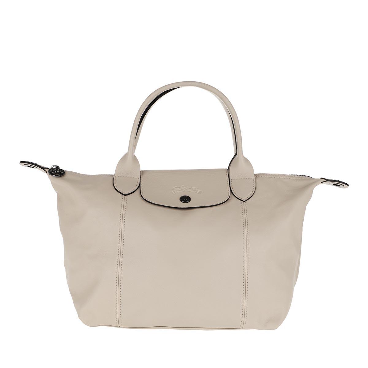 Longchamp Tote - Le Pliage S Leather Chalk - in beige - für Damen
