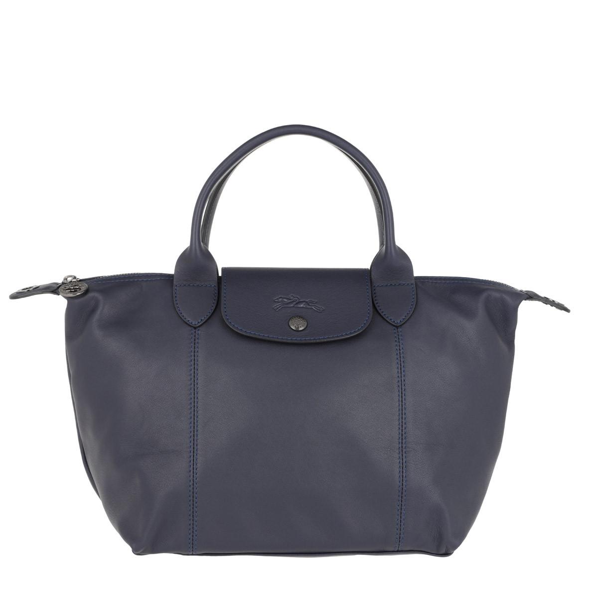 Longchamp Tote - Le Pliage S Leather Navy - in marine - für Damen