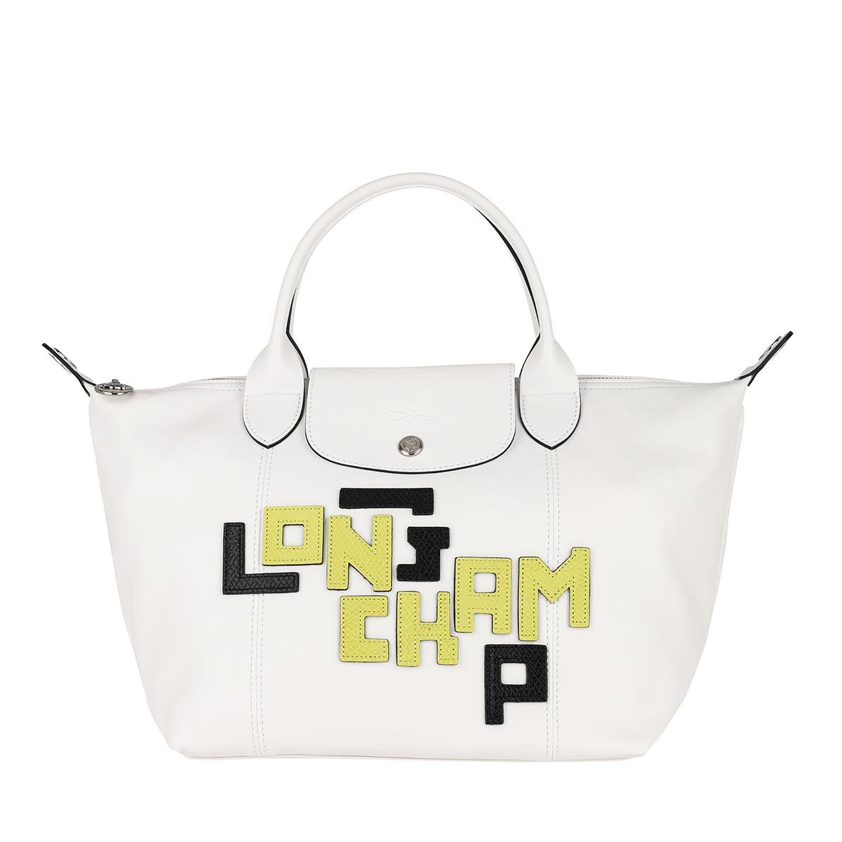 Longchamp Tote - Le Pliage S Leather White - in weiß - für Damen