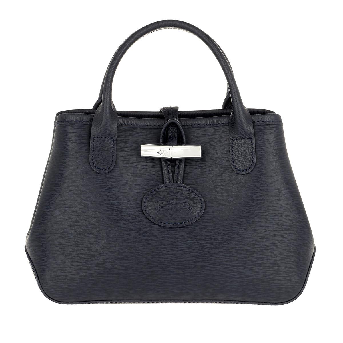 Longchamp Tote - Roseau Crossbody Bag Leather Navy - in blau - für Damen