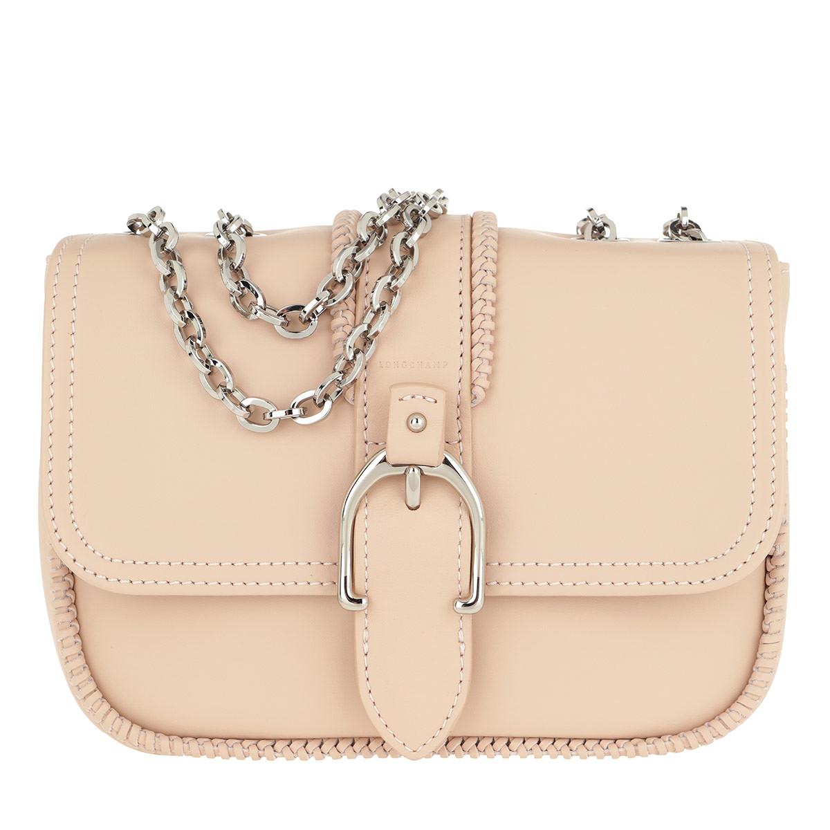 Longchamp Umhängetasche - Amazone Buckle Shoulder Bag Powder - in rosa - für Damen