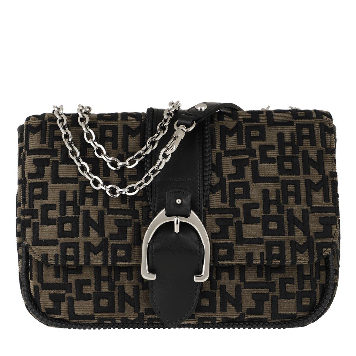 Longchamp Umhängetasche - Anazone LG Brodé Grey - in schwarz - für Damen