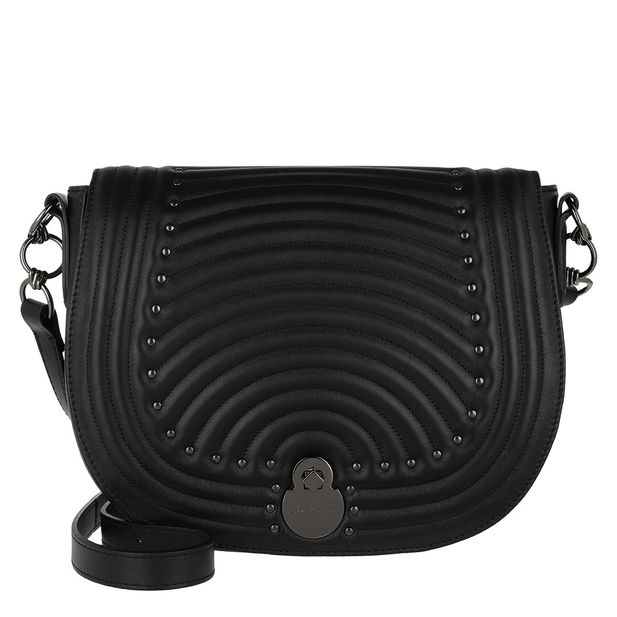 Longchamp Umhängetasche - Cavalcade Matelassé Crossbody Bag Black - in schwarz - für Damen