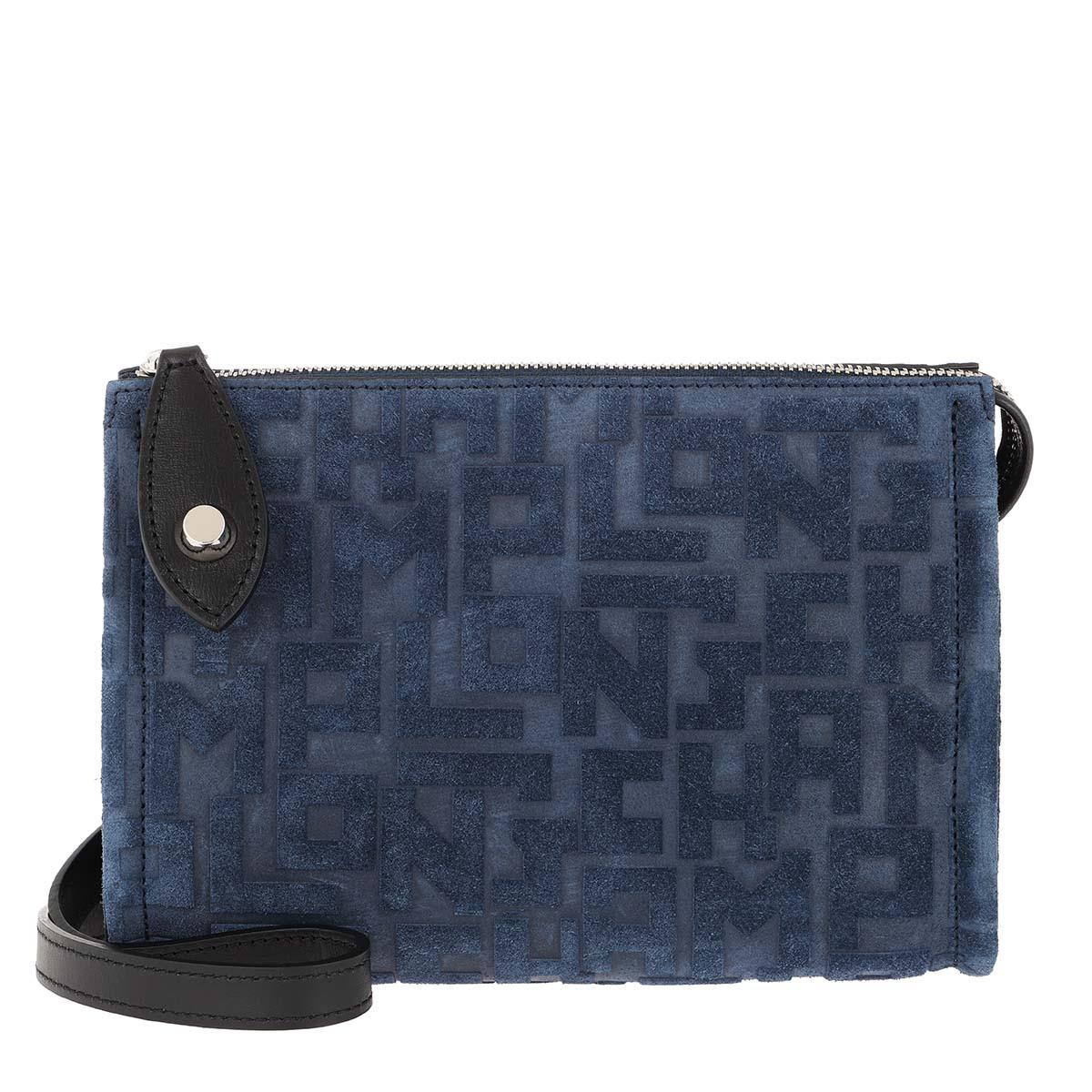 Longchamp Umhängetasche - La Voyageuse LGP Velours Navy - in blau - für Damen