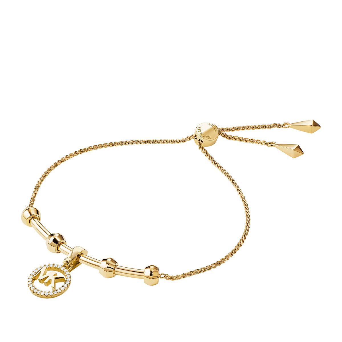 Michael Kors Armband - MKC1107AN710 Logo Charm Slider Gold - in gold - für Damen