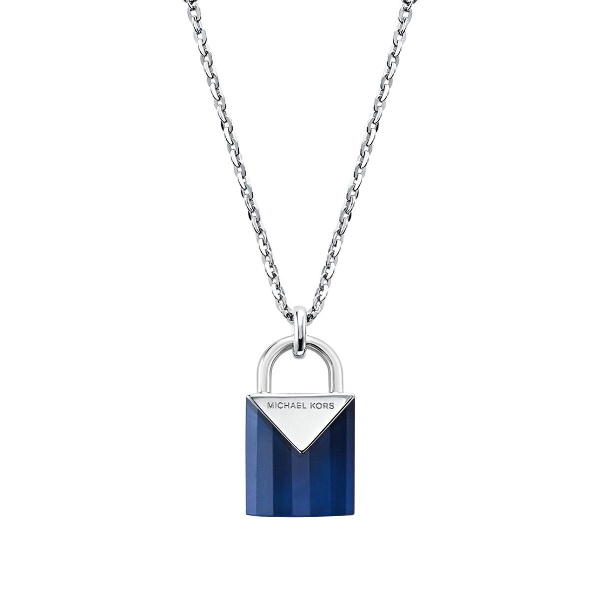 Michael Kors Halskette - MKC1039AF040 Padlock Pendant Silver - in silber - für Damen