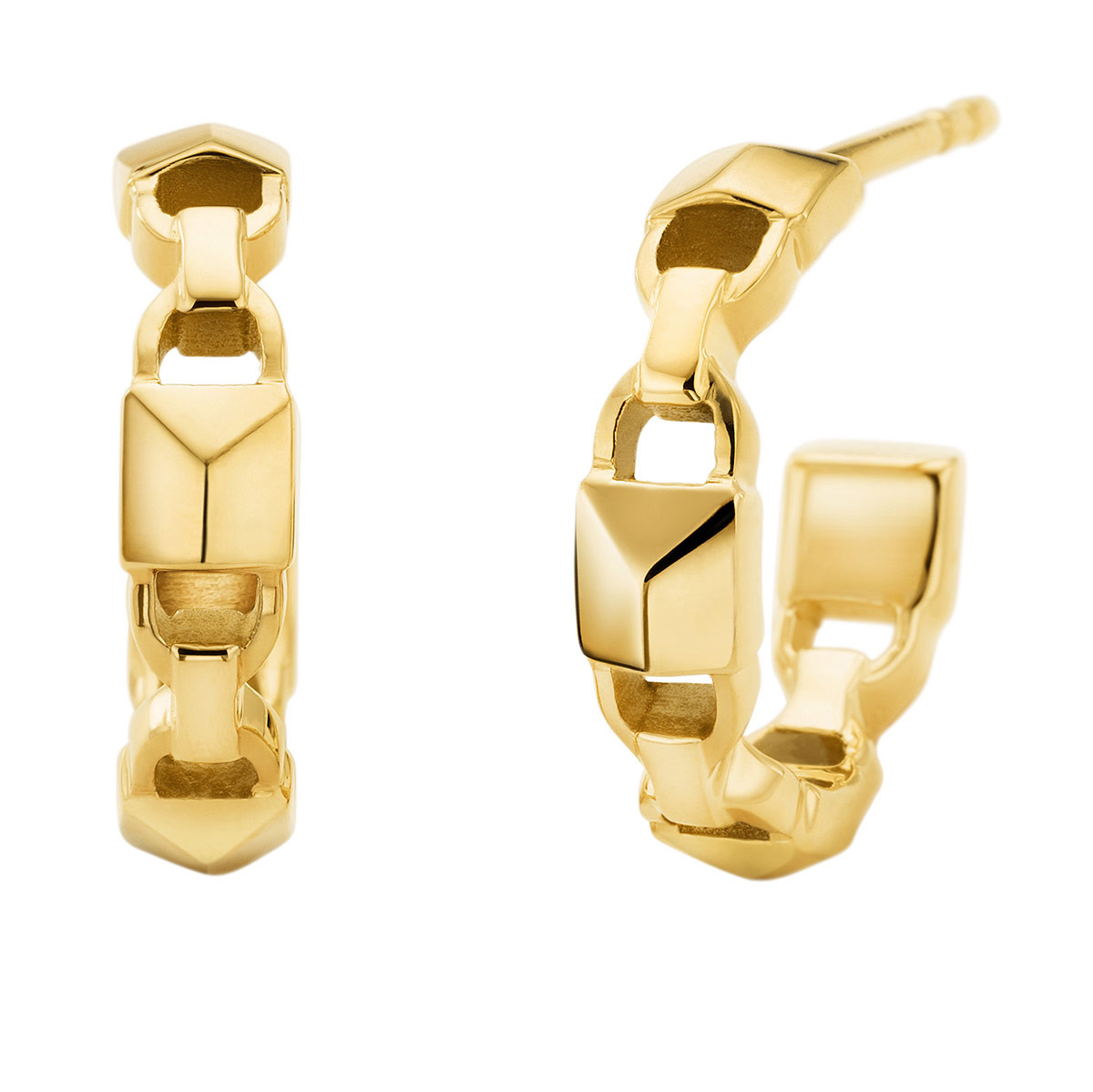 Michael Kors Ohrringe - MKC1013AA710 Huggie Mercer Link Gold - in gold - für Damen