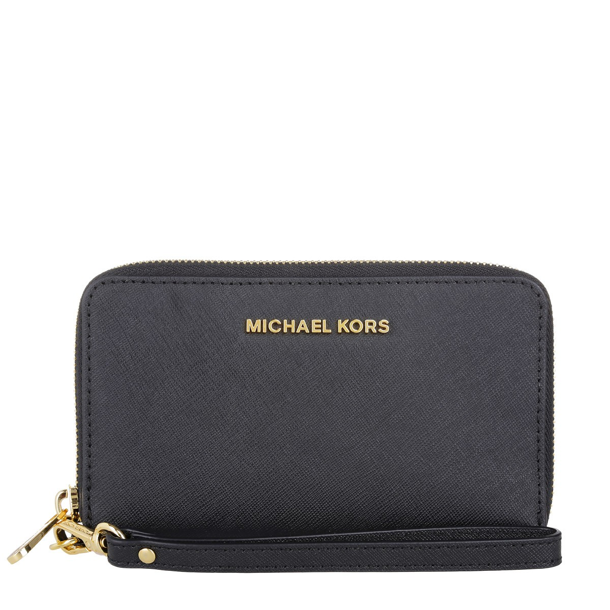 Michael Kors Portemonnaie - Jet Set Travel Large Flat Phone Case Black - in schwarz - für Damen