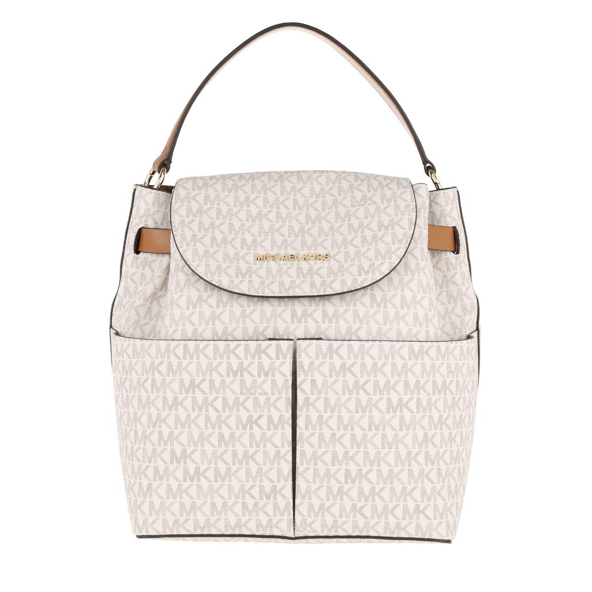 Michael Kors Rucksack - Bedford LG Backpack Vanilla/Acorn - in weiß - für Damen