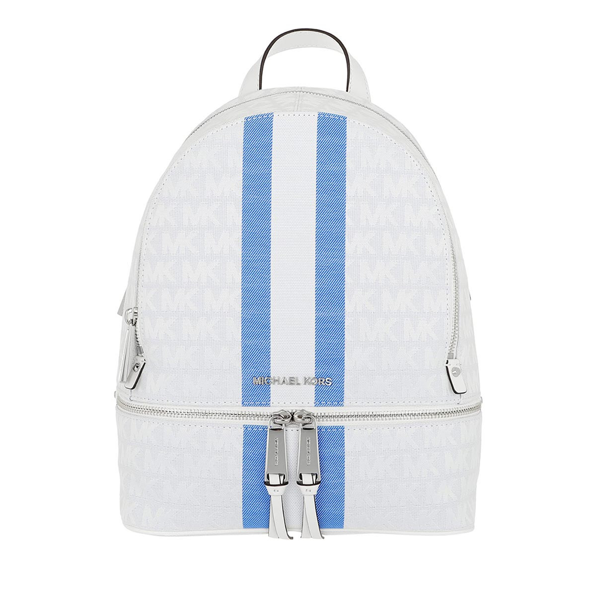 Michael Kors Rucksack - Rhea Zip Medium Backpack Grecin Blue Multi - in weiß - für Damen