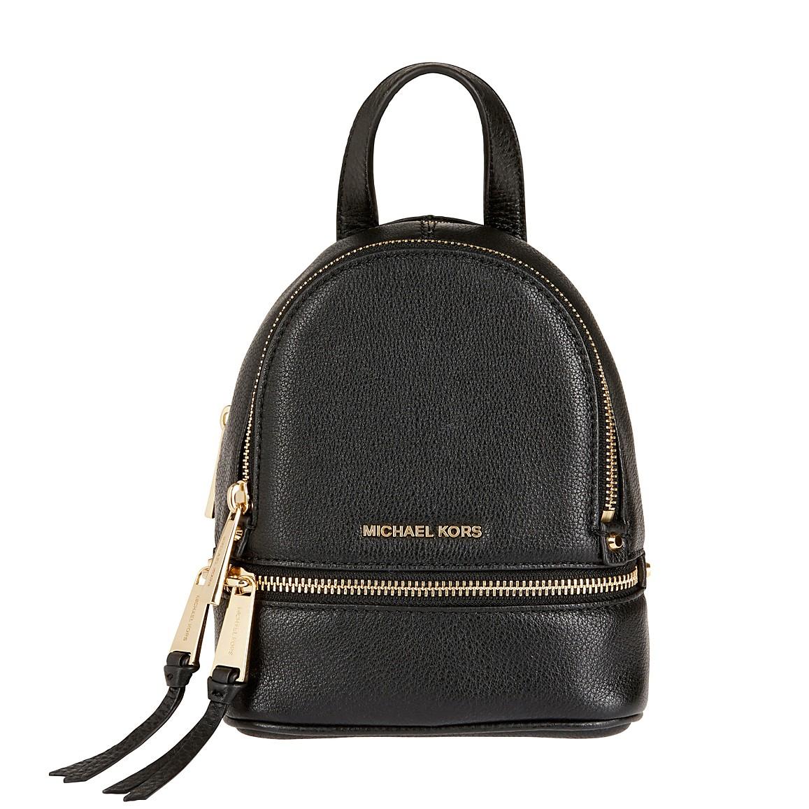Michael Kors Rucksack - Rhea Zip Messenger Backpack Black - in schwarz - für Damen