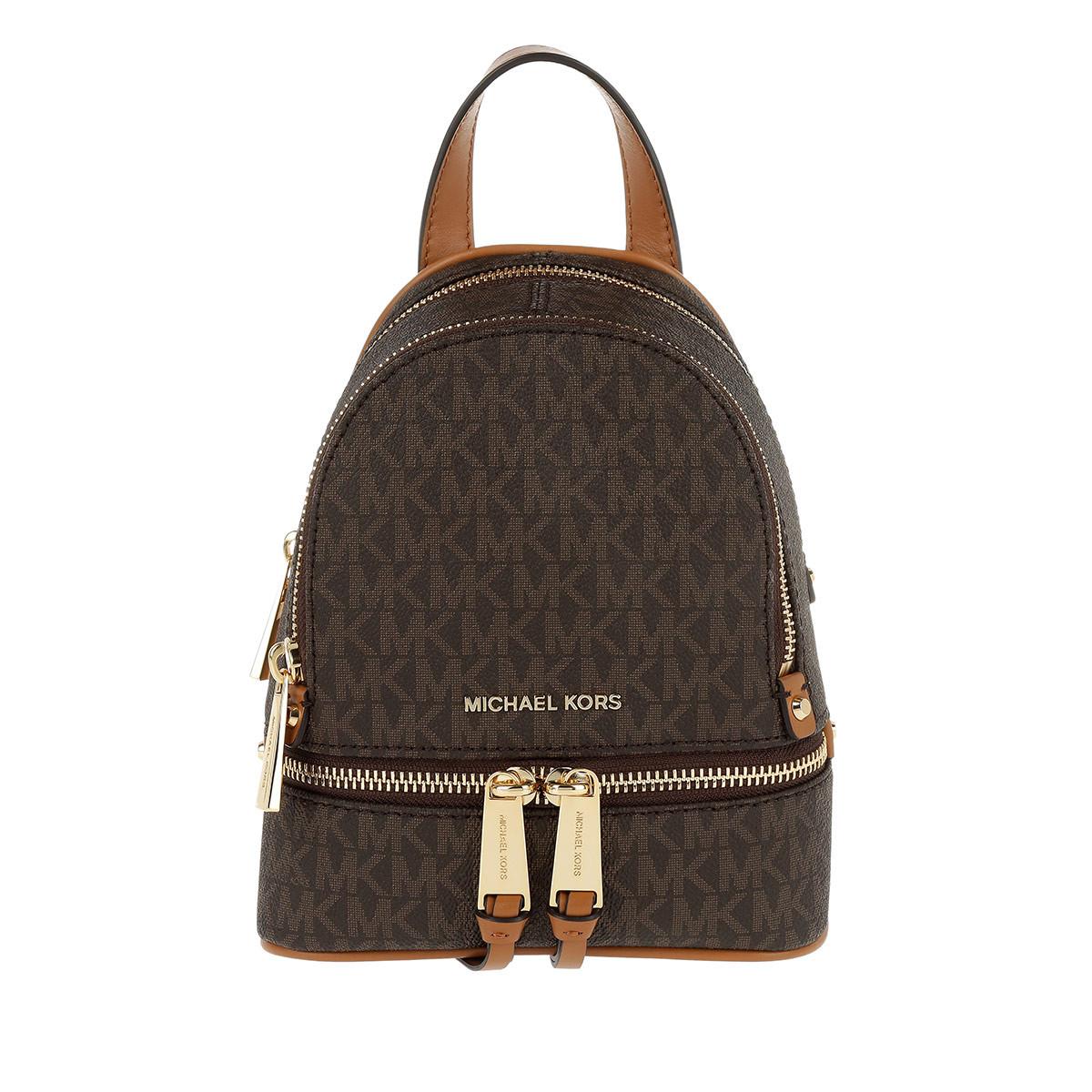 Michael Kors Rucksack - Rhea Zip Messenger Backpack Brown - in braun - für Damen