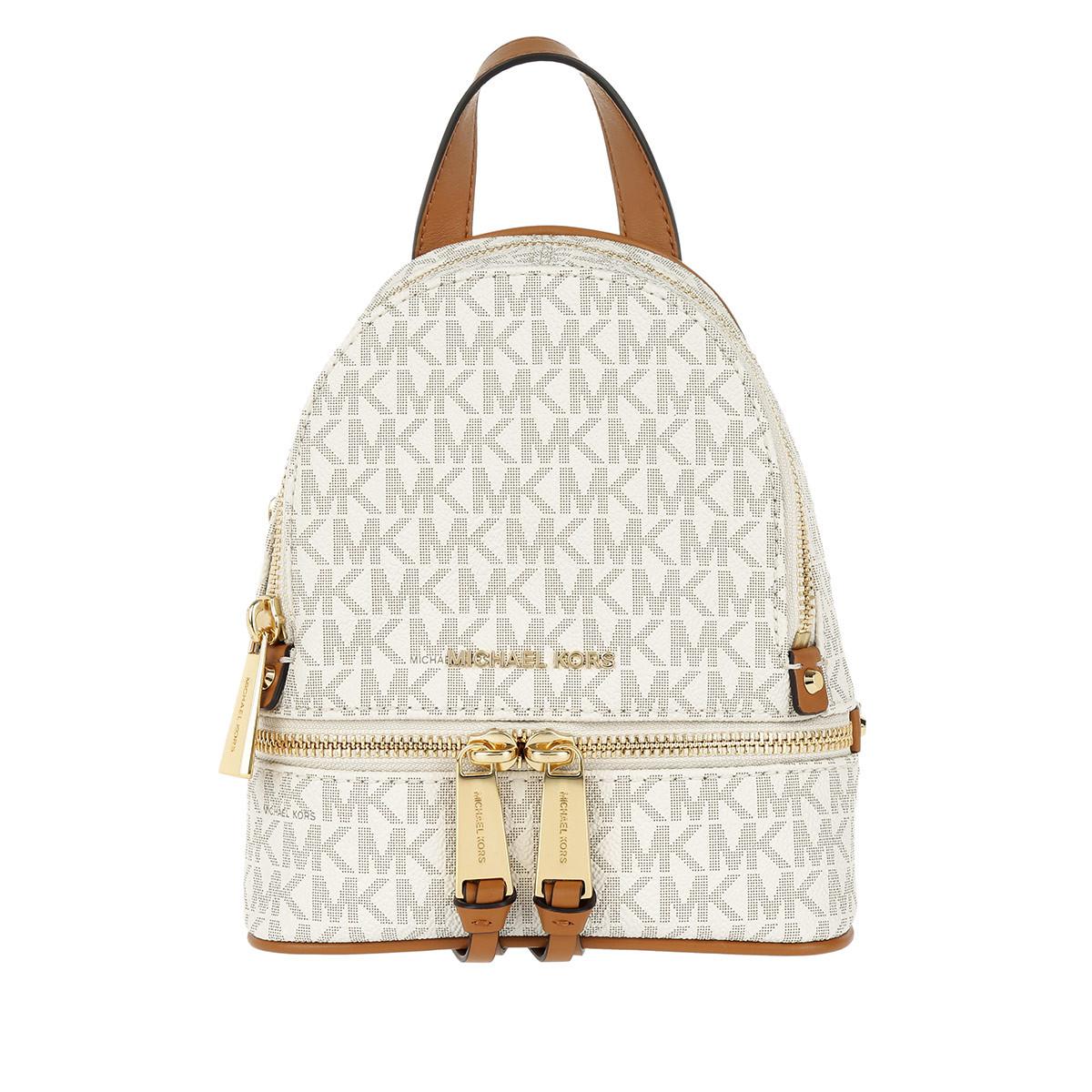 Michael Kors Rucksack - Rhea Zip Messenger Backpack Vanilla - in beige - für Damen