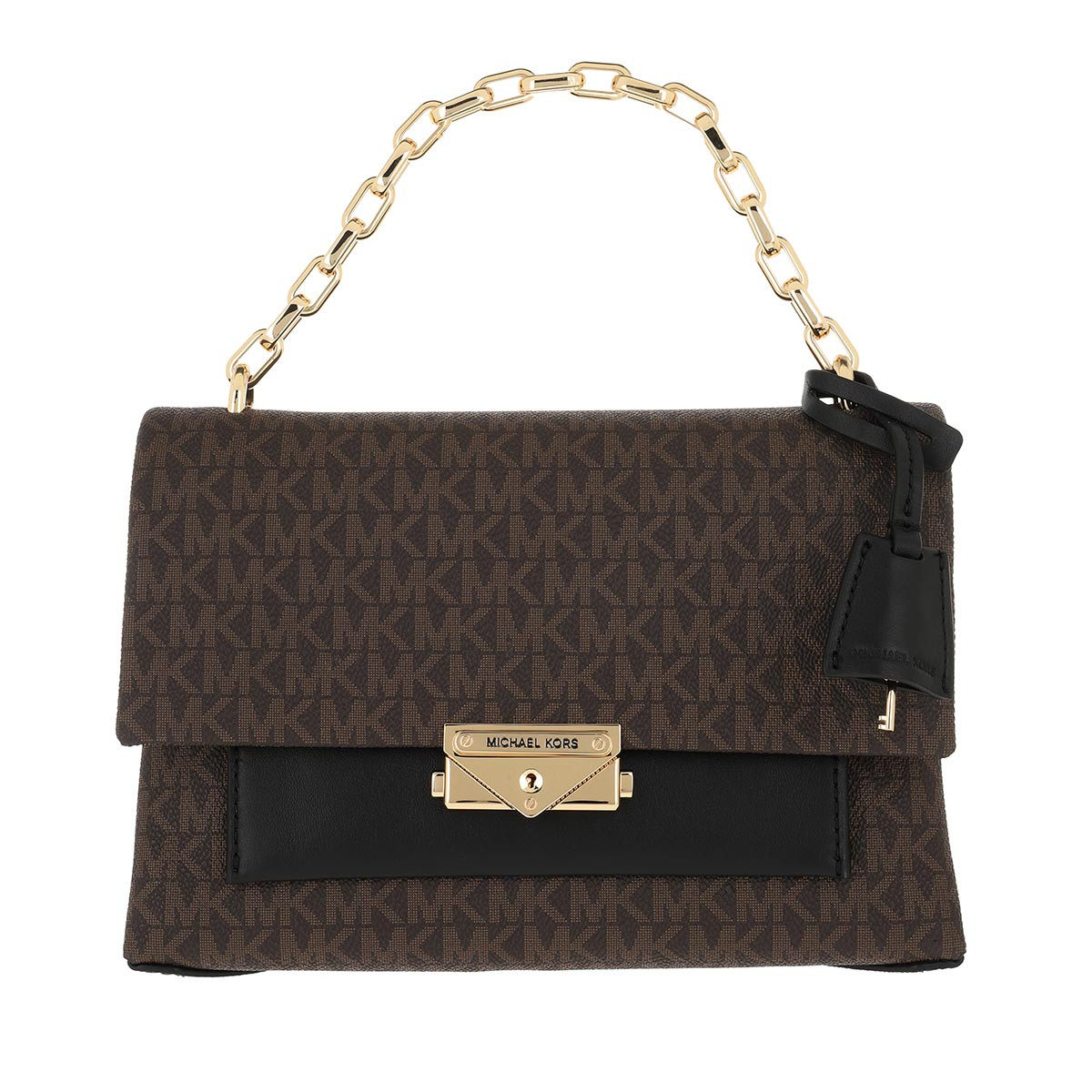 Michael Kors Satchel Bag - Cece MD Chain Shoulder Brown/Black - in braun - für Damen