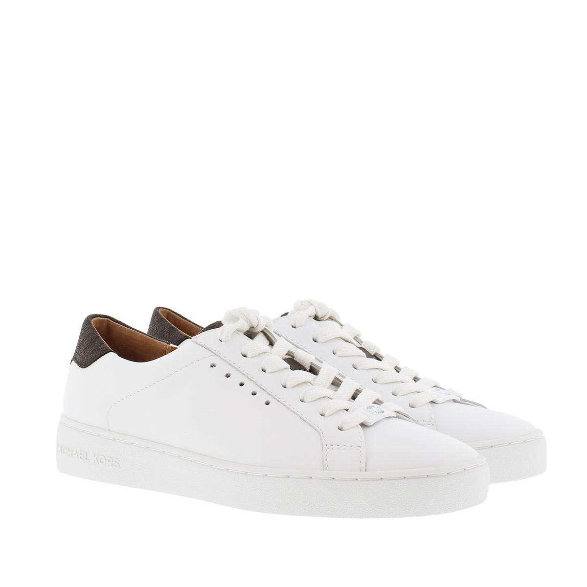 Michael Kors Sneakers - Irving Lace Up Sneaker Optic White/ Brown - in weiß - für Damen