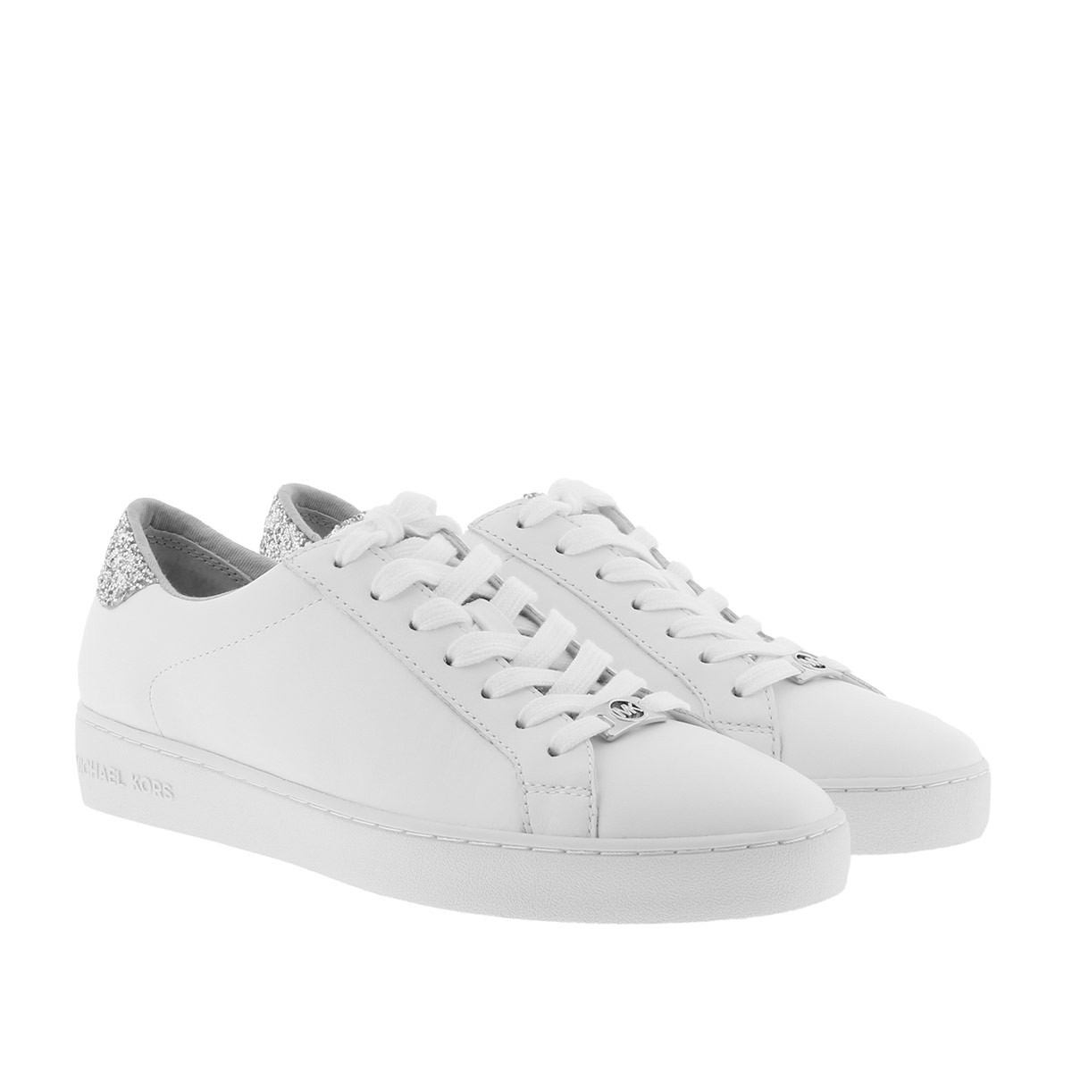 Michael Kors Sneakers - Irving Lace Up Sneaker Optic White/Silver - in weiß - für Damen