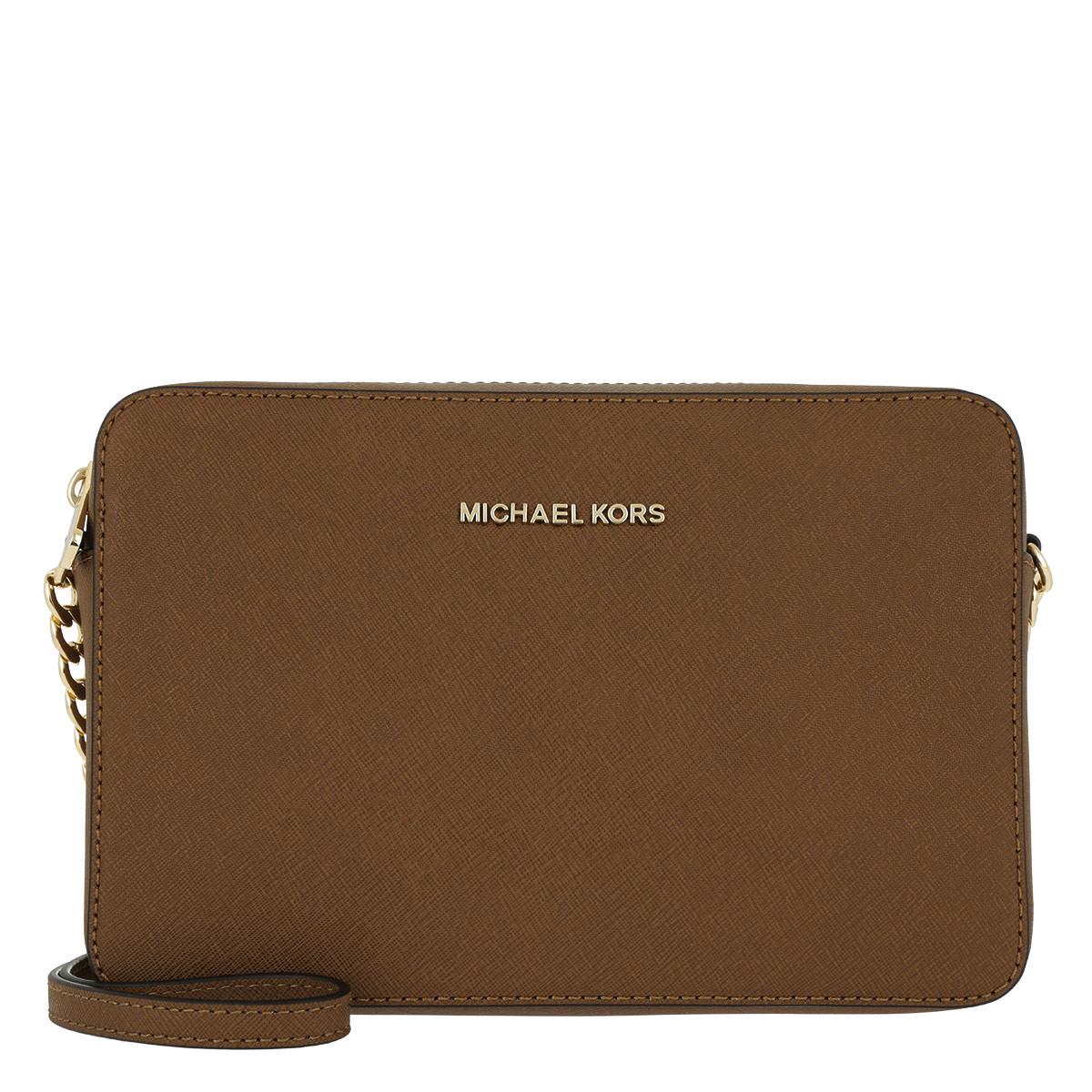 Michael Kors Umhängetasche - Jet Set Travel LG EW Crossbody Luggage - in cognac - für Damen